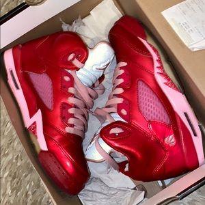 Retro Air Jordan 5s Valentines Day